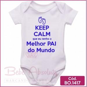 Body de Bebê Keep Calm Melhor Pai do Mundo