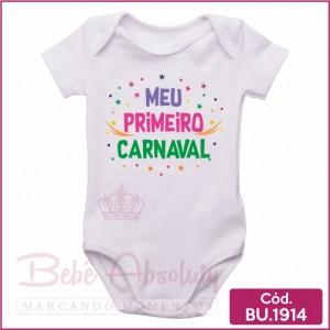 Body Bebê Meu Primeiro Carnaval
