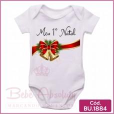 Body Bebê Meu Primeiro Natal