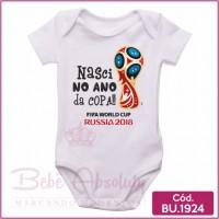 Body Bebê Nasci no Ano da Copa (Ideal para Recordação)