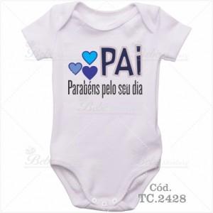 Body Bebê Pai Parabéns Pelo Seu Dia