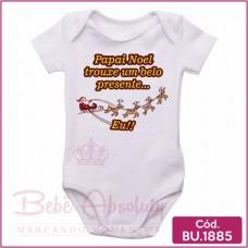 Body Bebê Papai Noel Trouxe um Belo Presente Eu
