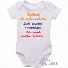 Body Bebê Qualidade da Minha Madrinha