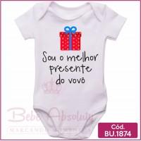 Body de Bebê Sou o Melhor Presente do Vovô
