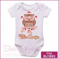 Body Bebê Titia Coruja