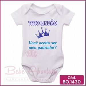 Body Bebê Titio Lindão, Você Aceita Ser Meu Padrinho?