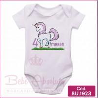 Body Bebê Unicórnio 4 meses