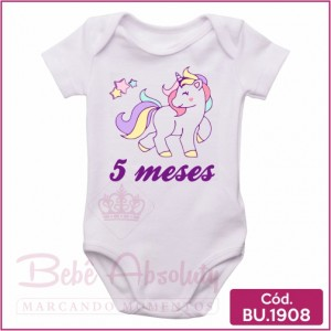 Body Bebê Unicórnio 5 meses