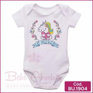 Body Bebê Unicórnio 6 meses