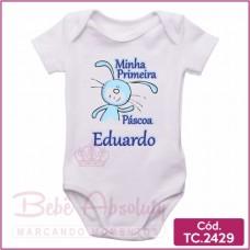 Body Bebê Minha Primeira Páscoa