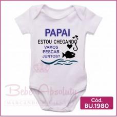 Body Bebê Papai Estou Chegando - BU1980