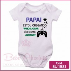 Body Bebê Papai Estou Chegando - BU1981