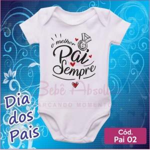 Body Dia dos Pais 02 / O Melhor Pai Sempre
