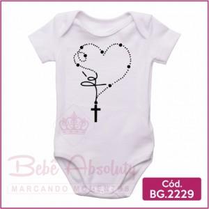Body Bebê Terço Fé - BG 2229