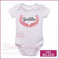 Body Bebê Gratidão - BG 2231