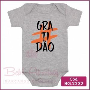 Body Bebê Gratidão - BG2232
