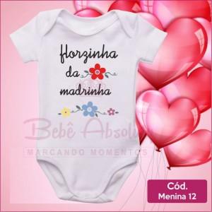 Body Menina 12 / Florzinha Madrinha