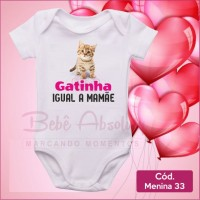 Body Menina 33 / Gatinha Igual a Mamãe