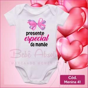 Body Menina 41 / Presente Especial da Mamãe