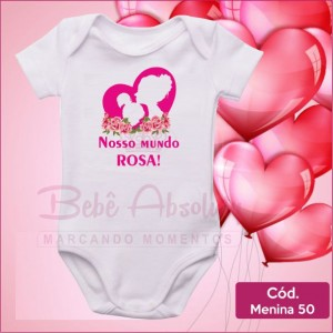 Body Menina 50 / Nosso Mundo Rosa