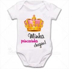 Body Bebê Minha Princesinha Chegou