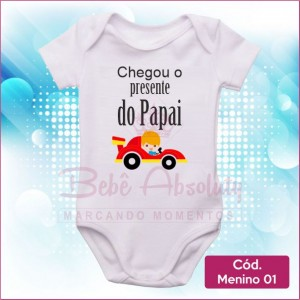 Body  Menino 01 / Chegou o Presente do Papai