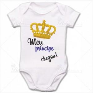 Body Bebê Meu Príncipe Chegou