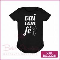 Body Bebê Vai com Fé - BG2228
