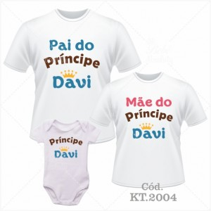 Kit Família Pai do Príncipe, Mãe do Príncipe, Príncipe